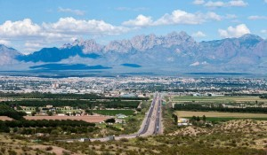 Scenic view of Las Cruces, NM