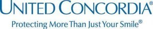 United Concordia logo in blue and white