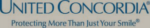 United Concordia logo in blue with grey background
