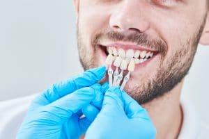man at dentist for veneers